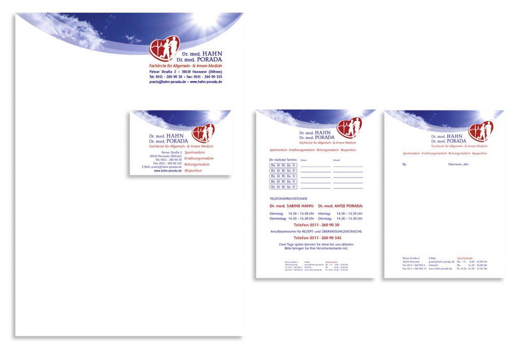 Geschäftsausstattung: Briefpapier, Visitenkarten, Terminzettel, Privatrezept