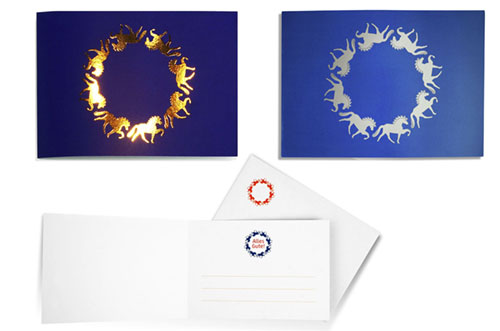 Glückwunschkarte Tölter Islandpferde Design