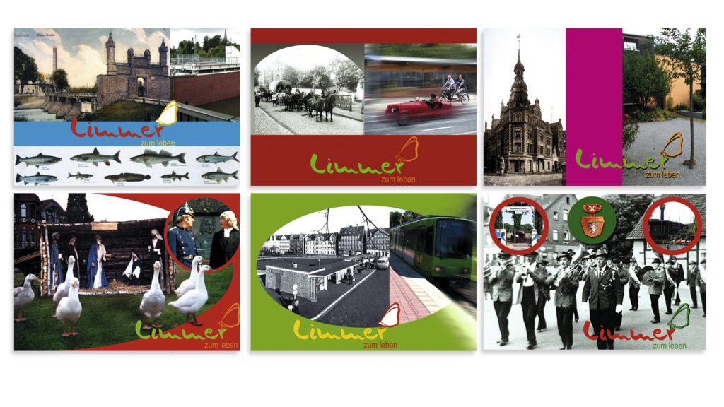 Ablösbare Postkartenmotive