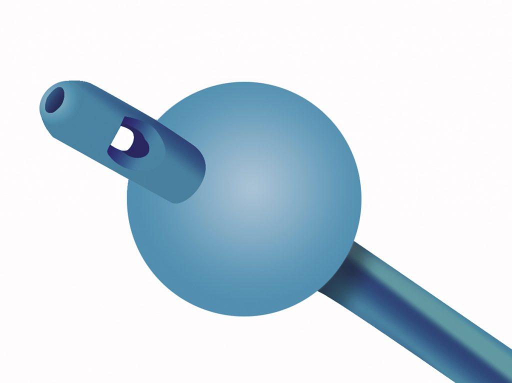 offene Nelatonspitze eines Blasenkatheters